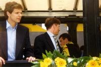 Andi Möller feiert den Meistertitel mit Borussia Dortmund