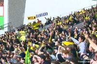 Fans von Borussia Dortmund bei Bayer 04 Leverkusen, 2009/10
