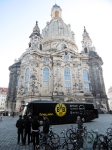 Dortmunder Mannschaftsbus an der Frauenkirche