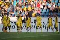 Dortmunder Spieler beim Aufwärmen in Bochum
