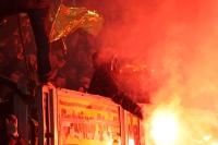 Dortmunder Ultras zünden Pyro in Dresden