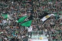 Fans von Borussia Mönchengladbach beim Heimspiel gegen Hertha BSC