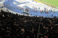 Fans von Borussia Mönchengladbach in Berlin bei Hertha BSC, DFB-Pokal-Viertelfinale, 08.02.2012, 0:2