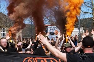 Marsch der Wismut-Fans in Saalfeld