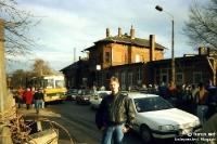 Bahnhof Leipzig-Leutsch 1994, auf dem Weg zum FC Sachsen Leipzig, Chemie ruft ...