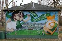 Leipzig-Leutzsch / BSG Chemie Leipzig, Graffiti am Alfred-Kunze-Sportpark