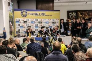 Pressekonferenz nach dem Derby