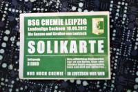 Solikarte der BSG Chemie Leipzig zum Derby