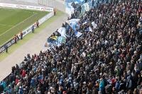 Fans und Ultras des Chemnitzer FC in der Red Bull Arena