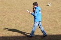 Stadionsprecher des Chemnitzer FC - auch auswärts in Babelsberg mit dabei