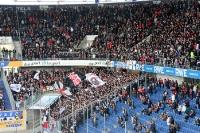 Fans / Ultras von Eintracht Frankfurt zu Gast beim MSV Duisburg