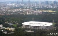 Commerzbank-Arena aus der Luft, Heimstätte von Eintracht Frankfurt in der Mainmetropole