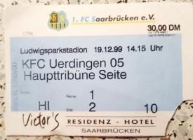 1. FC Saarbrücken vs. KFC Uerdingen 05