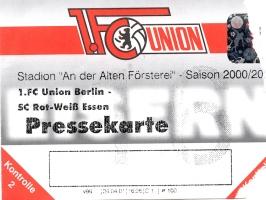 1. FC Union Berlin vs. Rot-Weiss Essen