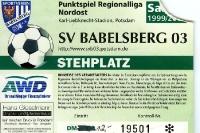 Eintrittskarte des SV Babelsberg 1999/2000