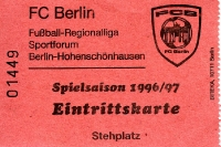 Eintrittskarte FC Berlin 1996/97