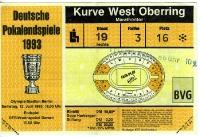 DFB Pokalendspiel 1993: Hertha BSC / A vs. Bayer 04 Leverkusen