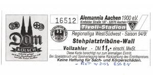 Alemannia Aachen vs. Rot-Weiss Essen
