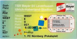 Bayer 04 Leverkusen vs. 1. FC Nürnberg