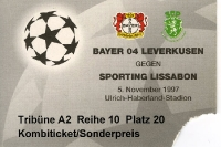 Bayer 04 Leverkusen vs. Sporting Lissabon 5.12.1997