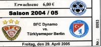BFC Dynamo vs. Türkiyemspor Berlin, 2005