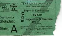 Eintrittskarte Bayer 04 Leverkusen vs. 1. FC Köln