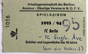 Eintrittskarte des FC Berlin
