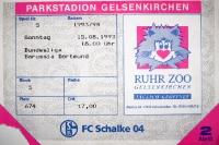 Eintrittskarte Revierderby Schalke 04 gegen BVB 09