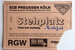 Eintrittskarte SCB Preussen Köln