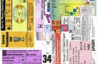 Eintrittskarten aus den 90er Jahren