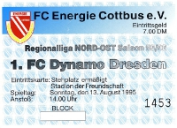 FC Energie Cottbus vs. 1. FC Dynamo Dresden, 2005