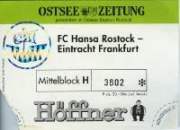 FC Hansa Rostock vs. Eintracht Frankfurt, 1995