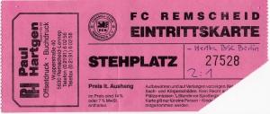 FC Remscheid vs. Hertha BSC