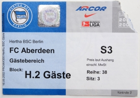 Hertha BSC vs. Aberdeen FC