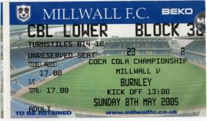 Millwall FC vs. Burnley FC