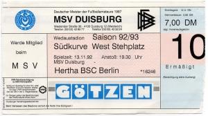 MSV Duisburg vs. Hertha BSC