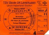 TSV Bayer 04 Leverkusen vs. Fortuna Düsseldorf