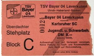 TSV Bayer 04 Leverkusen vs. Karlsruher SC