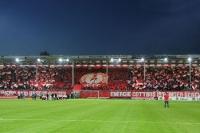 Choreographie des FC Energie Cottbus gegen Union Berlin