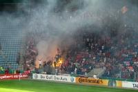 Fans des FC Energie Cottbus beim 1. FC Magdeburg