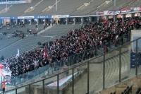 Fans des FC Energie Cottbus bei Hertha BSC