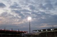 Abendliches Stadion der Freundschaft in Cottbus