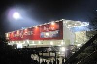 Stadion der Freundschaft am Abend