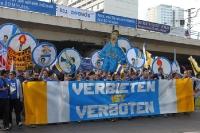 Fans des FC Carl Zeiss Jena bei der Fandemo 2010