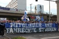 Fans des Hamburger SV bei der Fandemo 2010