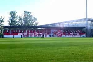 Choreo FC Bayern München Fans in Wolfsburg Relegation 3. Liga