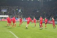 FC Bayern Spieler beim Aufwärmen