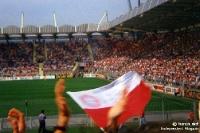FC Bayern München zu Gast beim TSV Bayer 04 Leverkusen, Fans im H-Block, Anfang der 90er Jahre