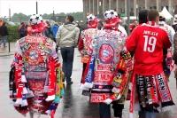 FC Bayern-Fans mit Kutte