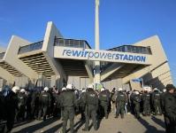 Bochumer Polizeikessel beim Spiel VfL Bochum Hansa Rostock